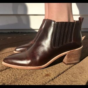 MADEWELL bonham real brown leather booties SZ 6.5